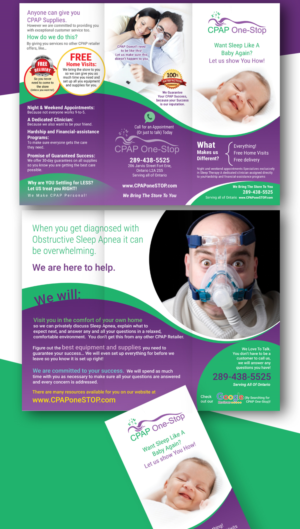 Colorful, Bold, Health Care Flyer Design for CPAP One-Stop