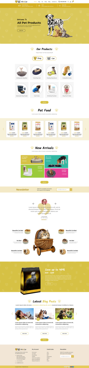 Shopify Design by hirshri