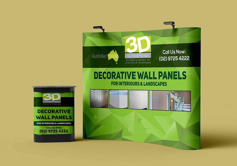 Elegant Playful Interior Design Trade Show Booth Design For 3d Wall Panels By Deziner Zone Design 21647596