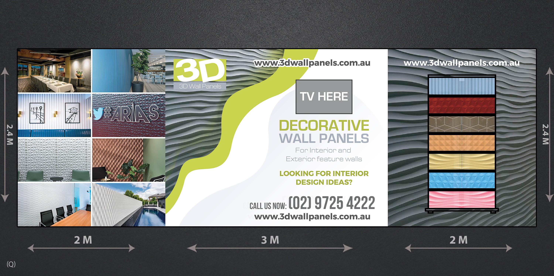 Elegant Playful Interior Design Trade Show Booth Design For 3d Wall Panels By Designanddevelopment Design 21857790