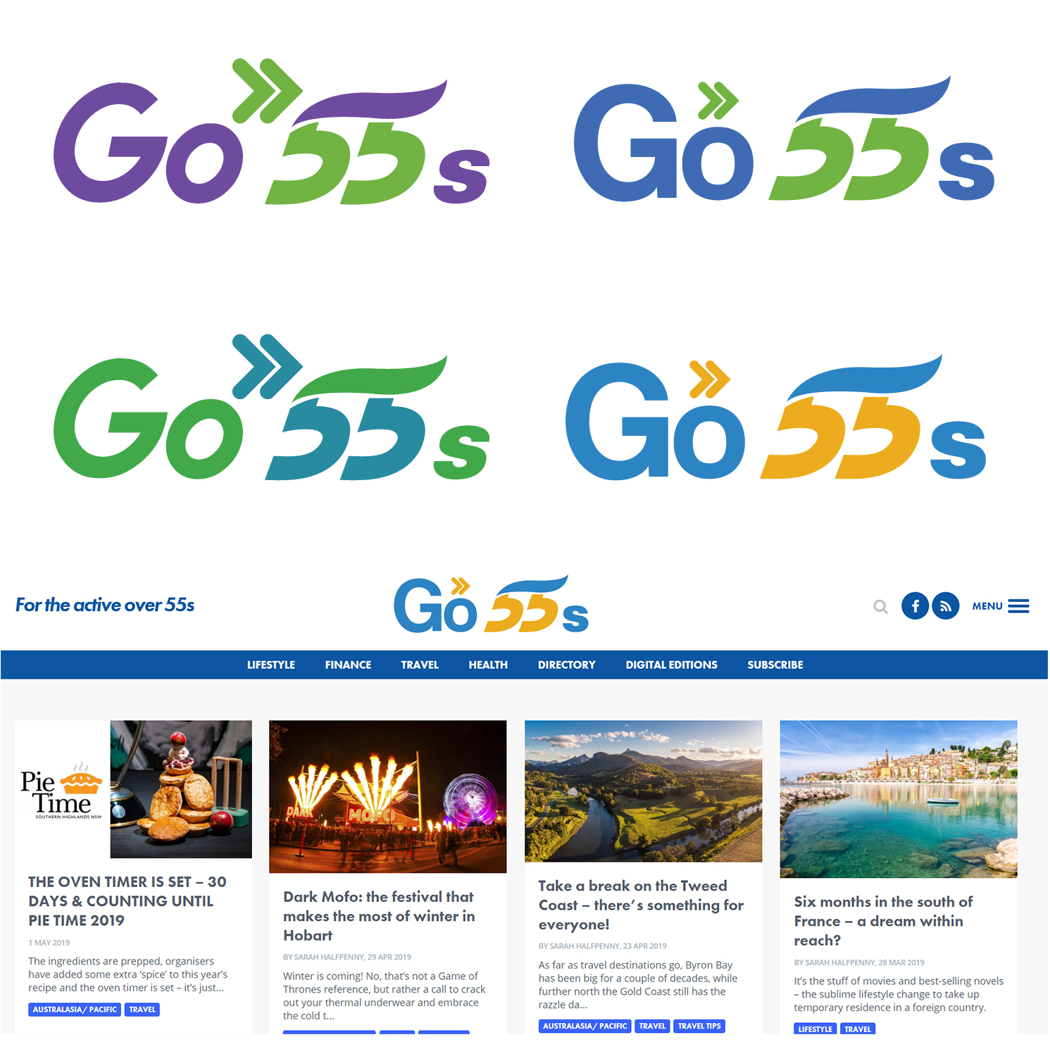 Elegant, Playful Logo Design for Go55s by Selena design   Design