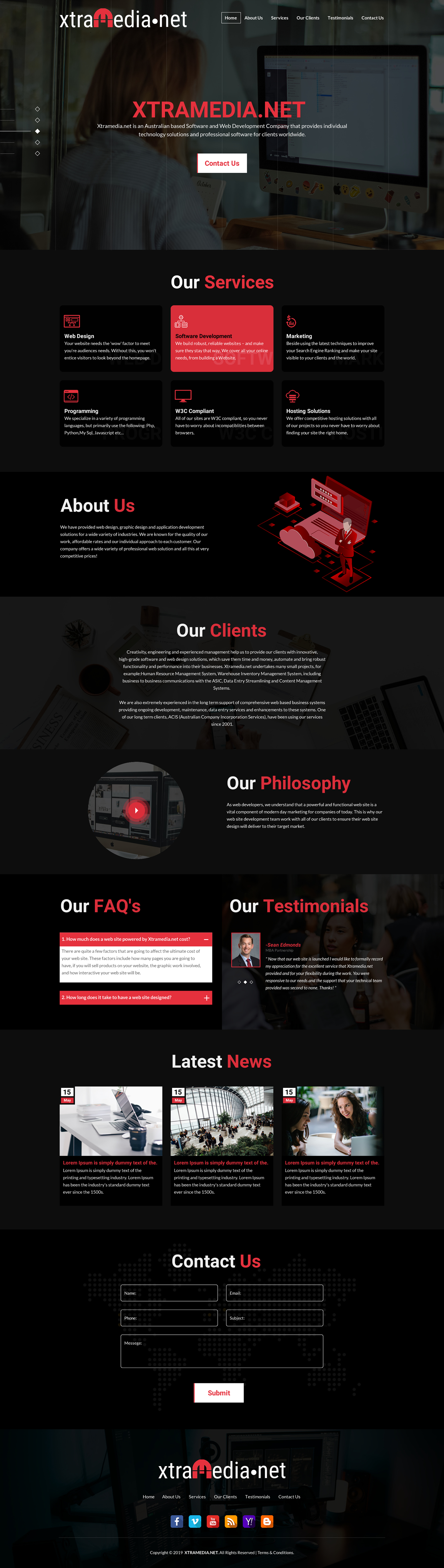 Modern, Professional, Business Software Web Design for a Company by