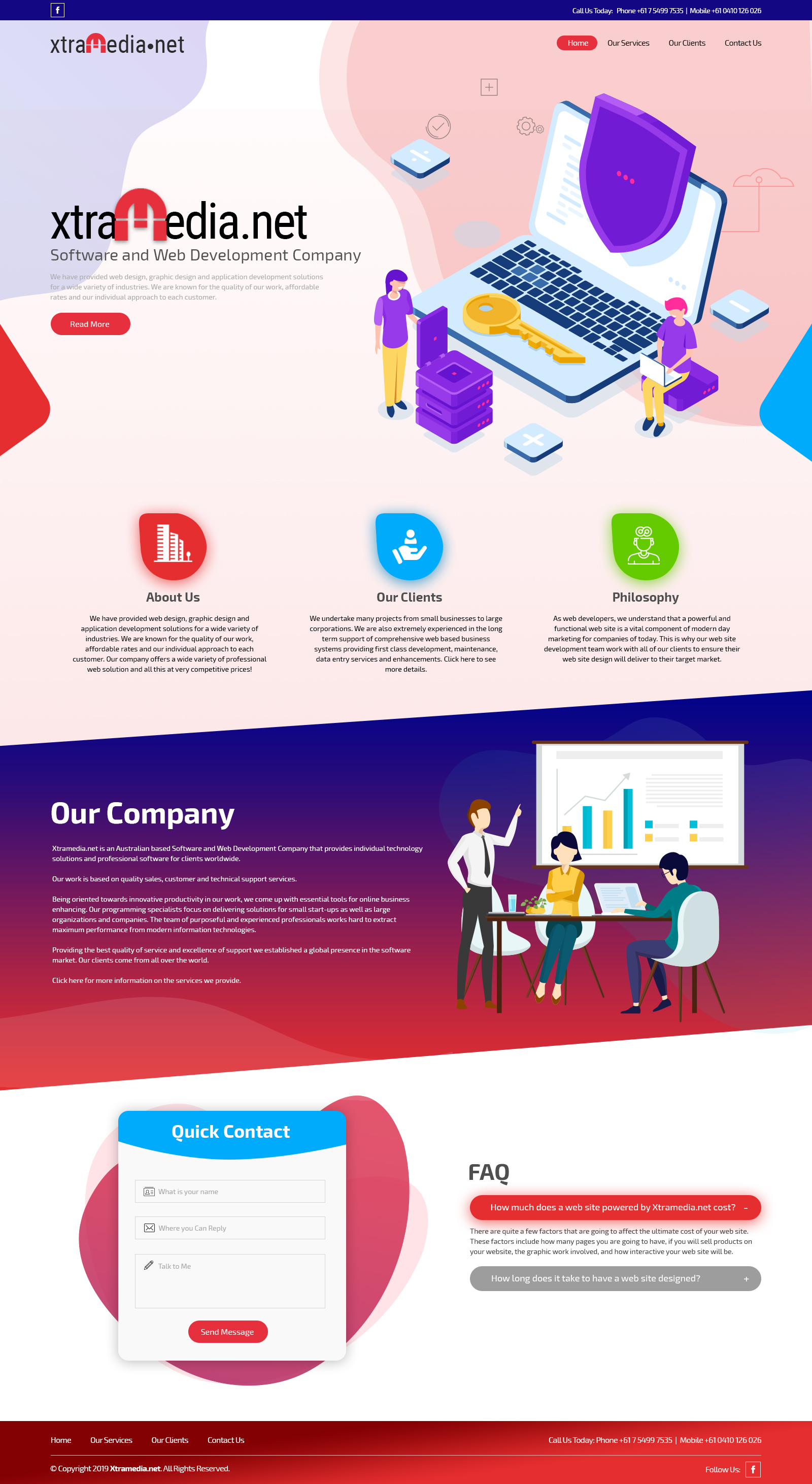 Modern, Professional, Business Software Web Design for a