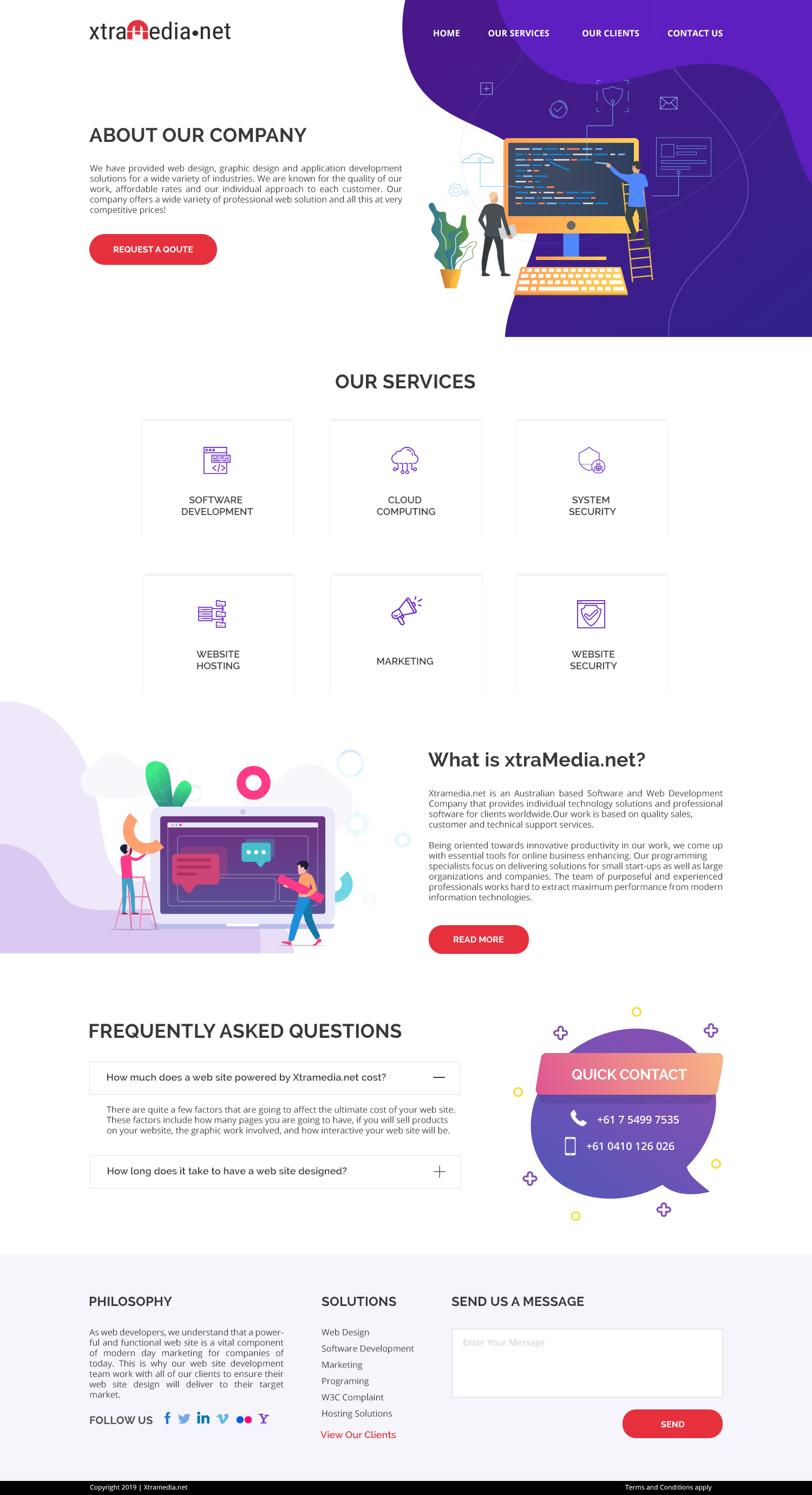 Modern Professional Business Software Web Design For A Company By Whipple Web Design Design 21718591