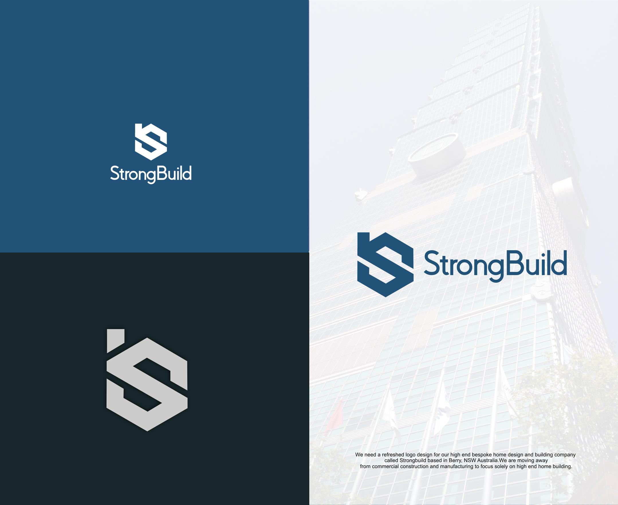 Upmarket Conservative Logo Design For Strongbuild By Mike