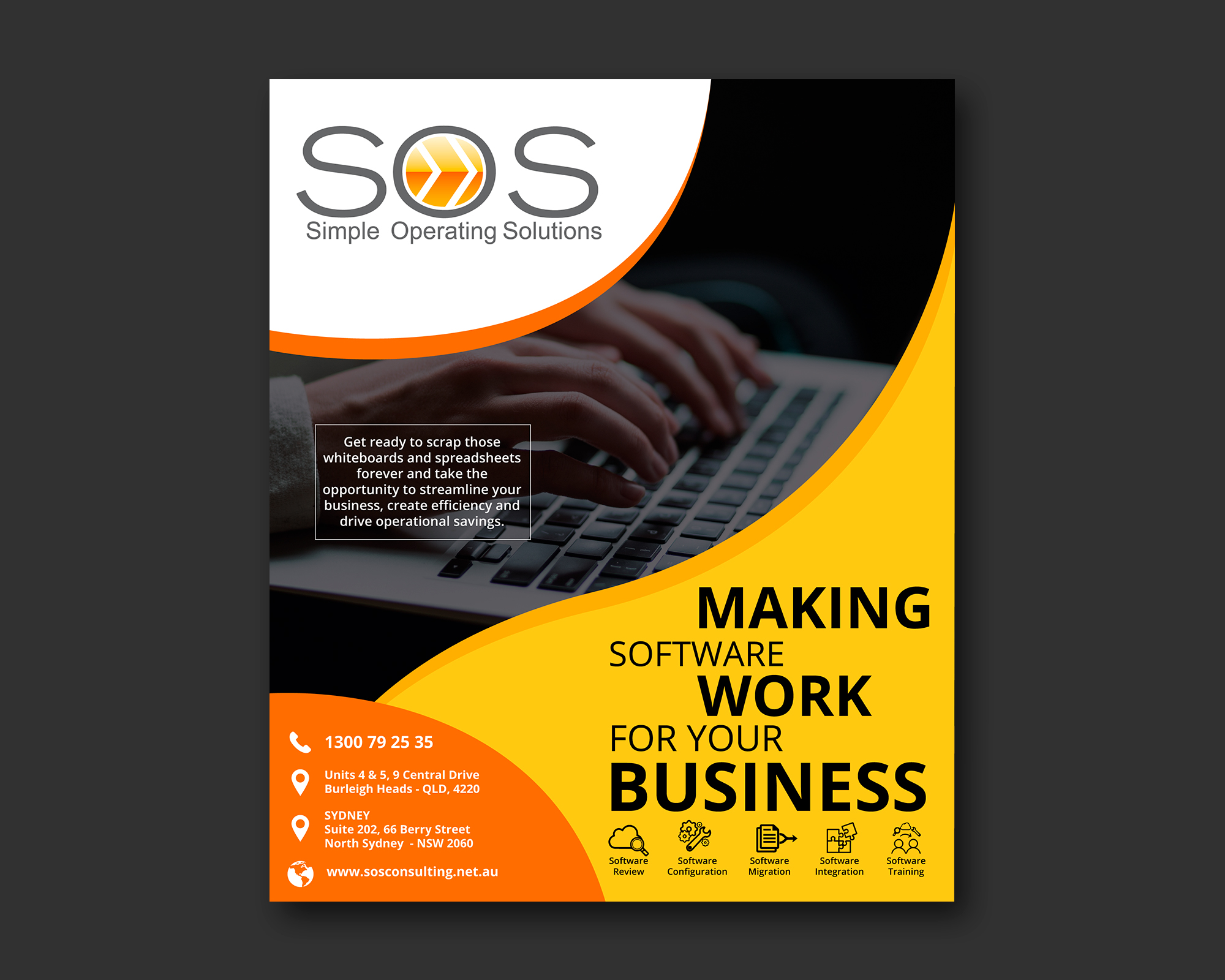 Poster Design For Sos Consulting By Nightmist Design 21730899