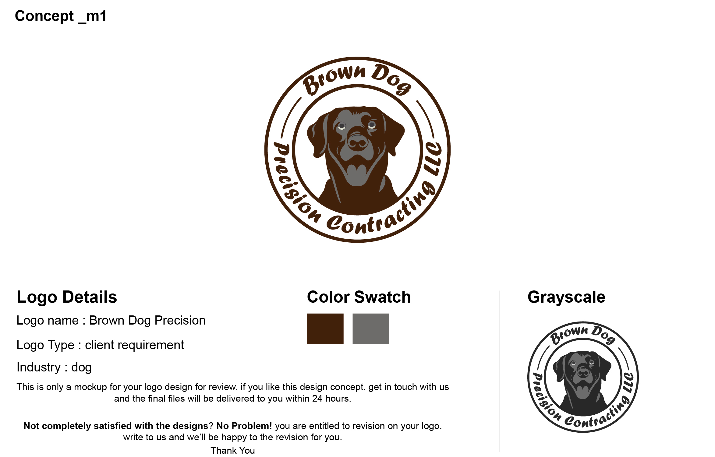 Serious, Professional, Carpentry Logo Design for Brown Dog
