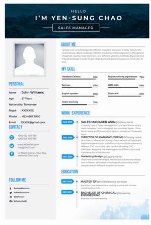 Resume Design by kingchami