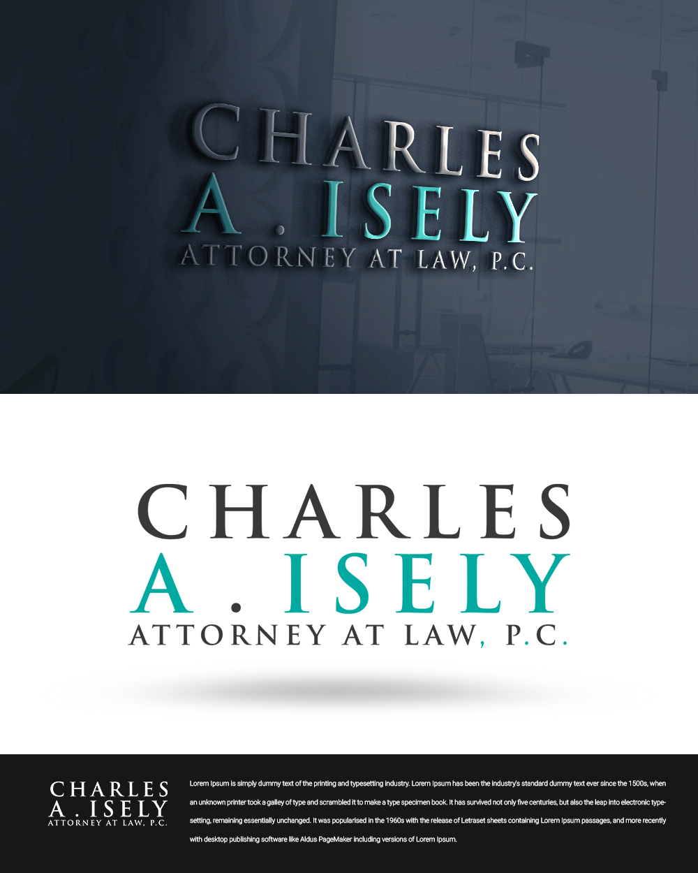 Logo Design for Charles A  Isely, Attorney at Law, P C  by