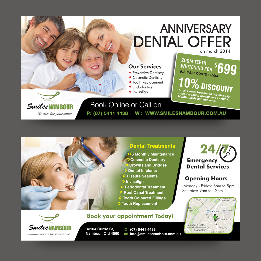 Professional dental clinic flyer designs for a