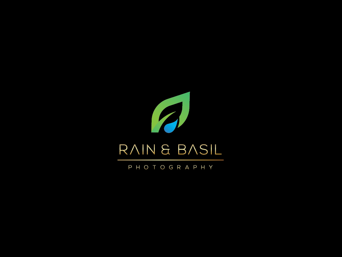Bold Modern Logo Design For Rain Basil Photography By Jugnu