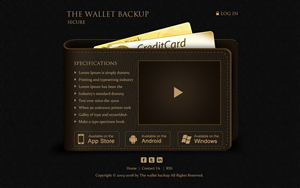 Web Design by krishnan - Wallet/Purse themed website design