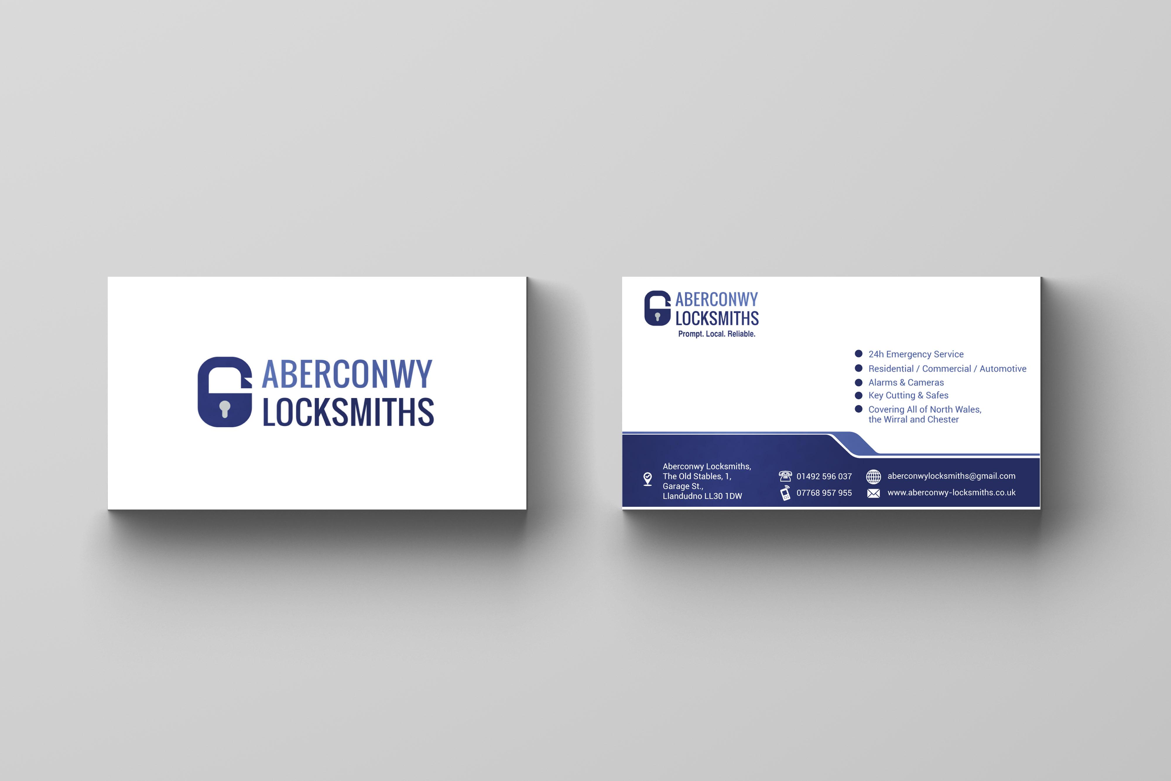 Elegant Playful Locksmith Business Card Design For A Company By Sonar Tari Design 21889613