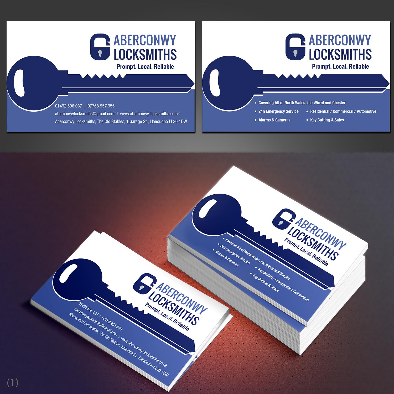 Elegant Playful Locksmith Business Card Design For A Company By Designanddevelopment Design 21891478