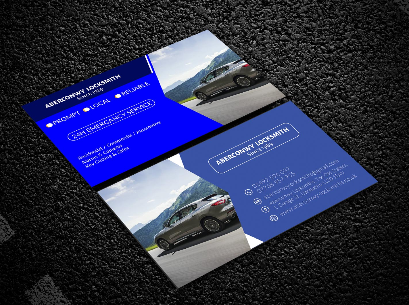 Elegant Playful Locksmith Business Card Design For A Company By Atiq 2 Design 21915534