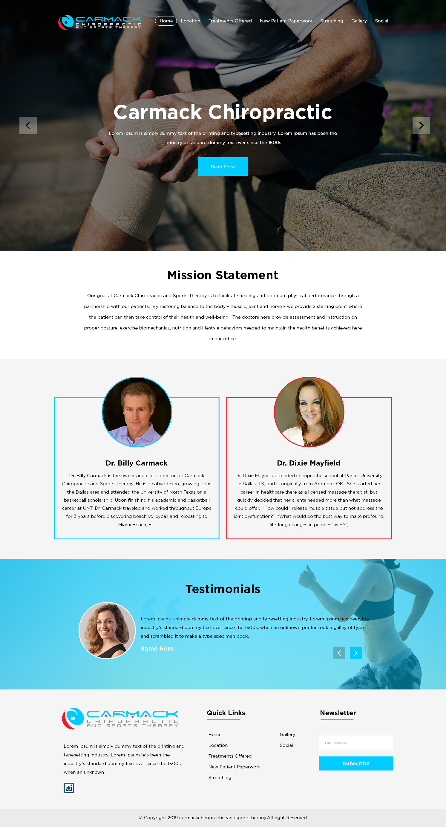 Modern Upmarket Health Care Web Design For Carmack Chiropractic And Sports Therapy By Designanddevelopment Design 21906068