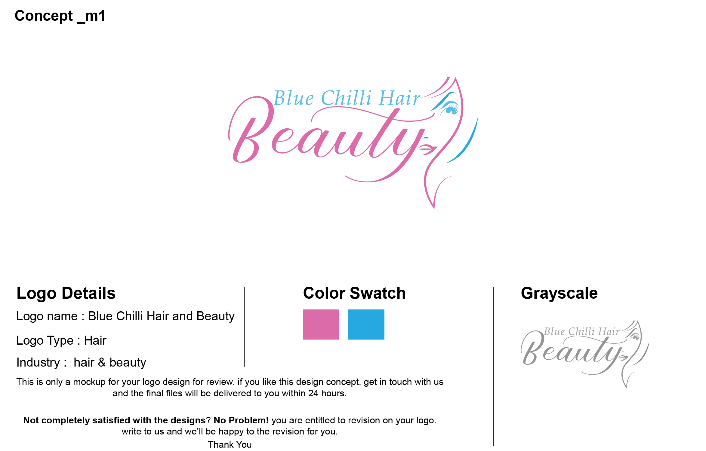 Logo Design for Blue Chilli Hair and Beauty by logocubics | Design