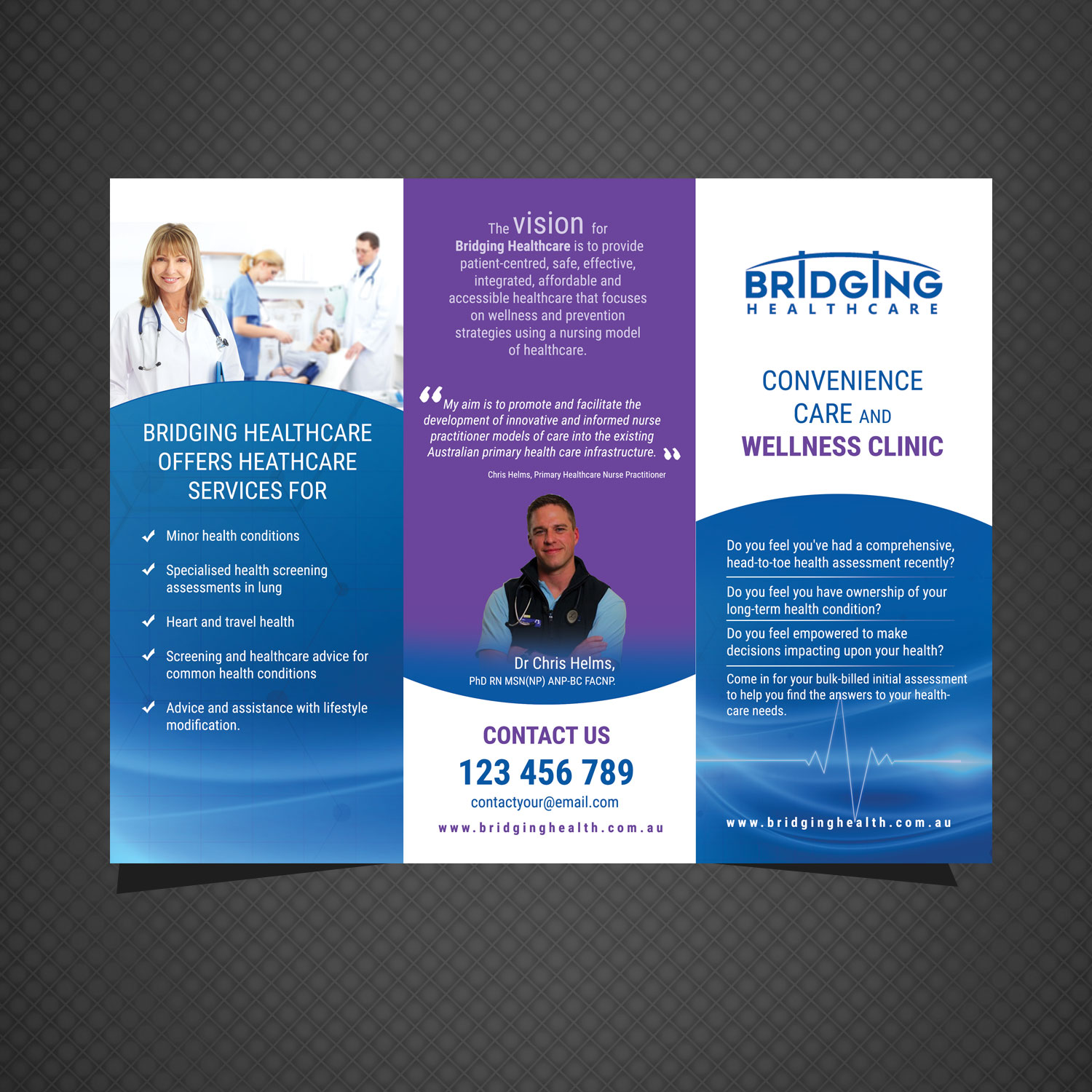 Modern, Professional, Healthcare Flyer Design for a Company by uk