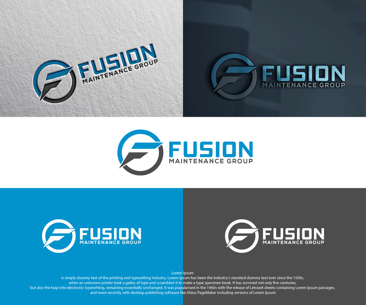 Serious, Professional Logo Design for FUSION Maintenance