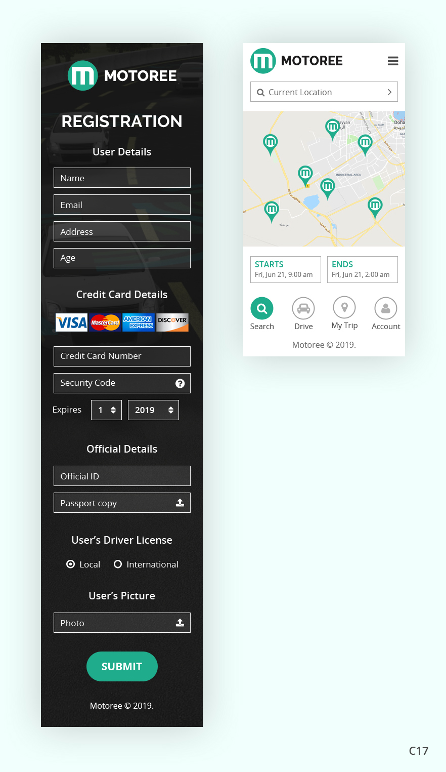 Professional, Modern, Car Rental App Design for a Company by pb