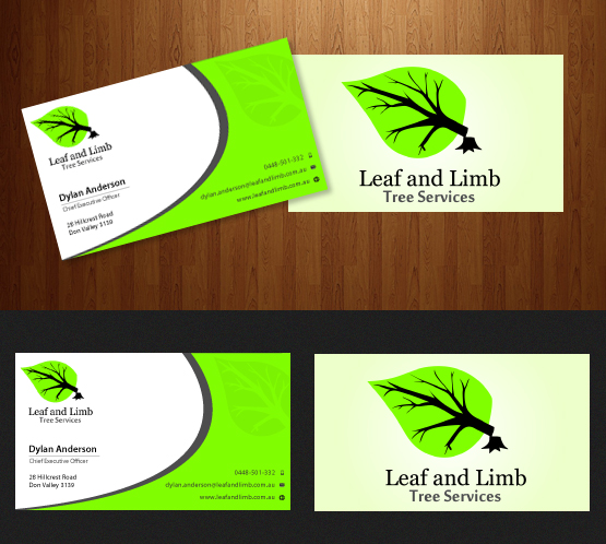 business card design by uniquedesign10 for this project design 2940723 - Tree Service Business Cards
