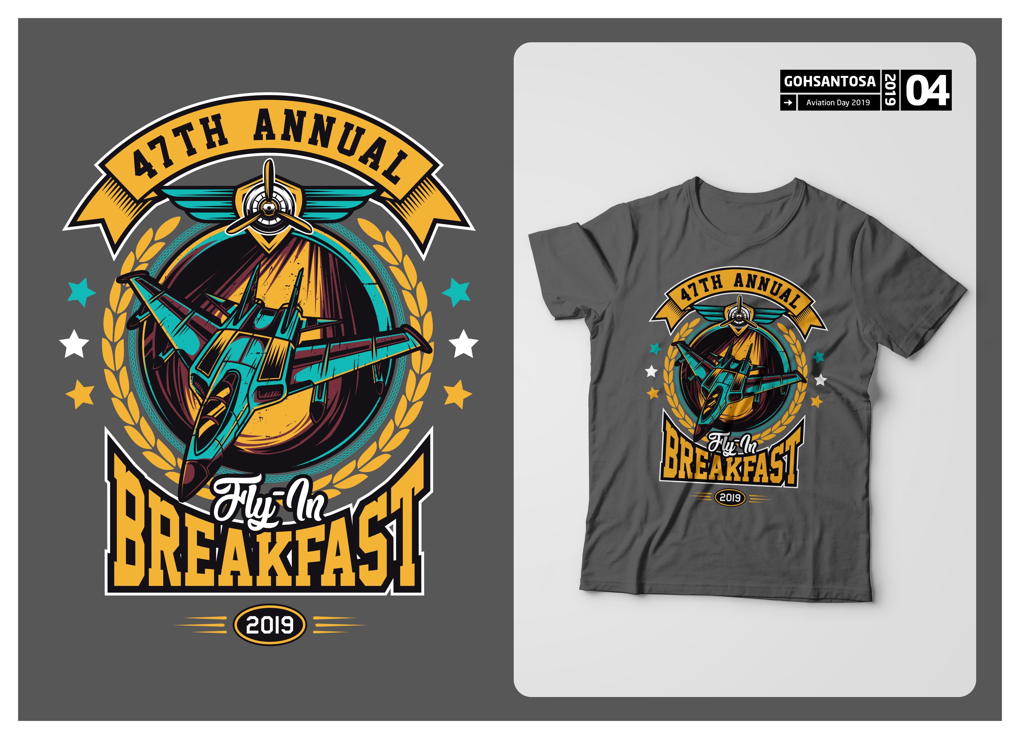 T-shirt Design for EAA Chapter 1227 by Gohsantosa | Design #22052794