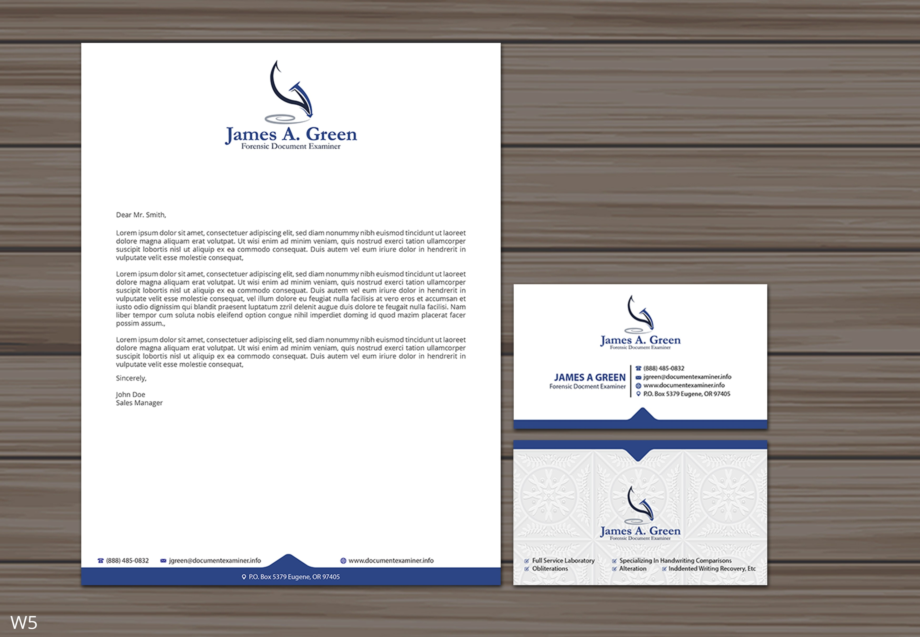 Professional Serious Stationery Design For Forensic Document Examiner By Designanddevelopment Design 22109434