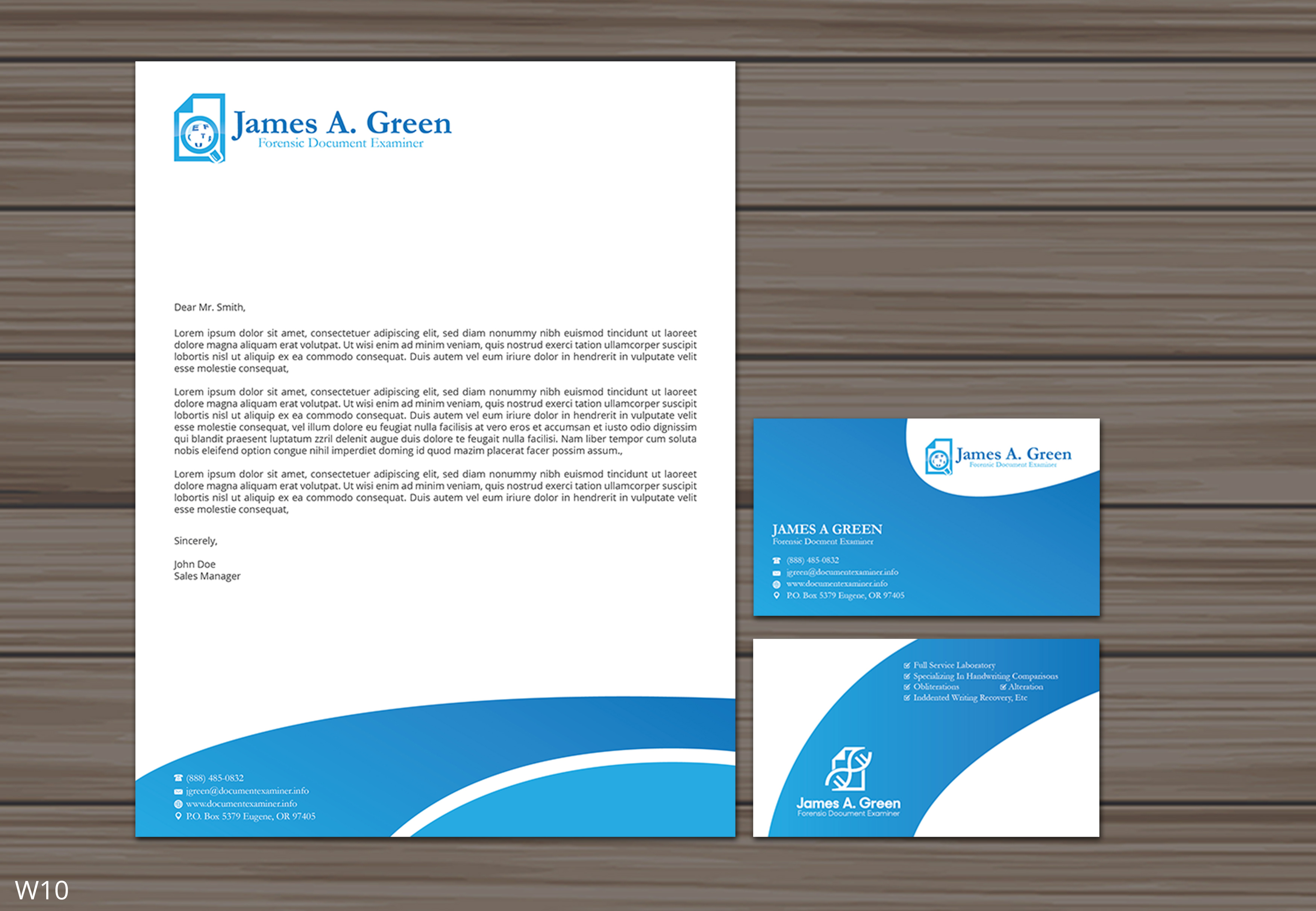 Professional Serious Stationery Design For Forensic Document Examiner By Designanddevelopment Design 22123698