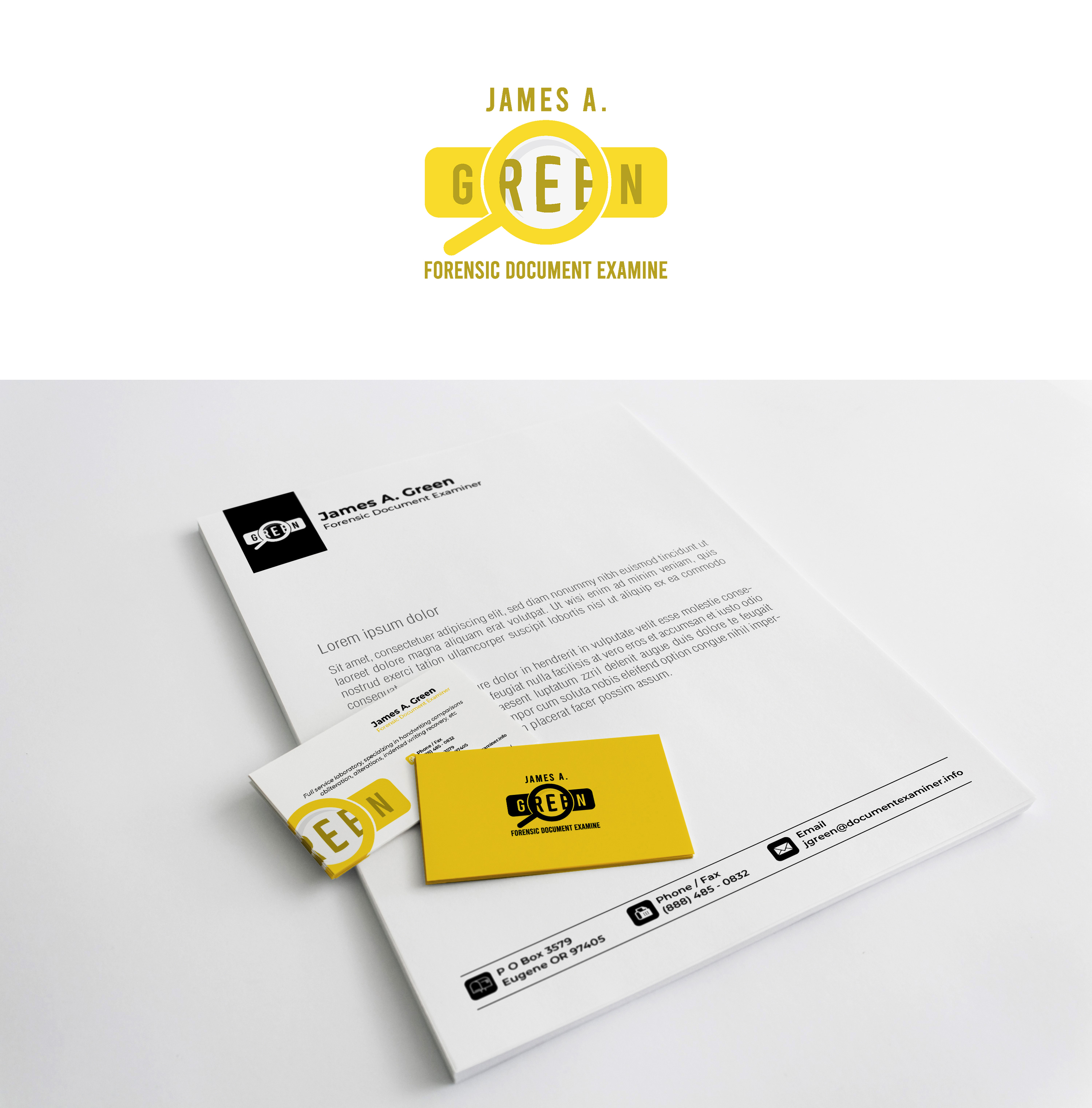 Professional Serious Stationery Design For Forensic Document Examiner By Noor Aldeen Design 22094241