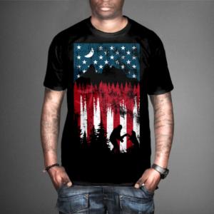 a2cec2b376f2 U.s. flag landscape | T-shirt Design by T-ShirtDesigner