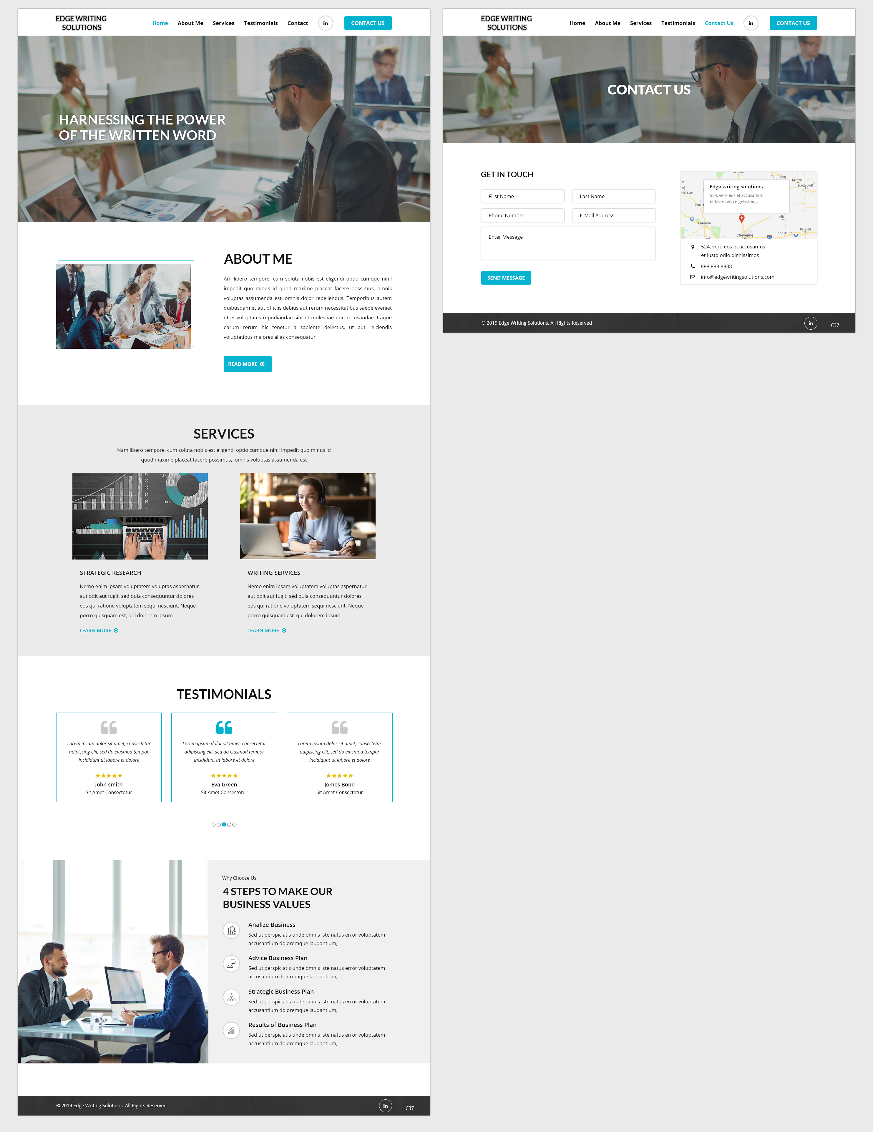Modern, Bold Web Design for a Company by pb | Design #22147032