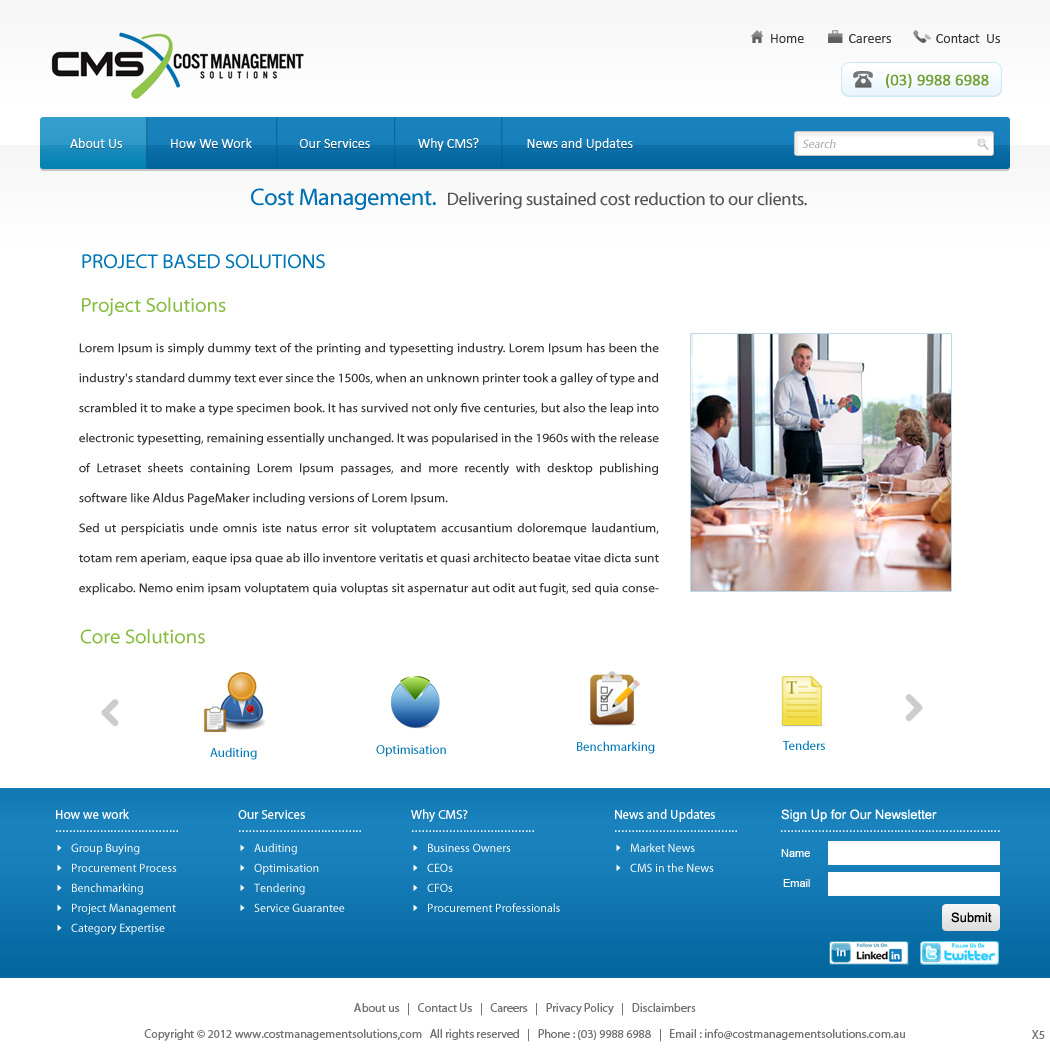 Bold serious consulting web design for a company by pb for Web design consultant
