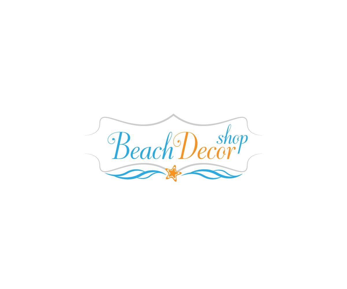 Upmarket Feminine Nautical Logo Design For Beach Decor Shop By M