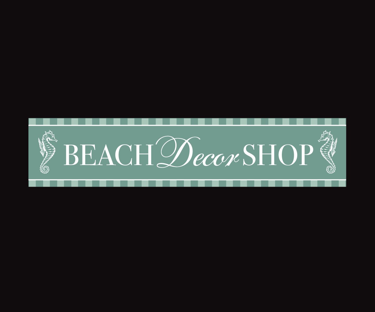 Upmarket Feminine Nautical Logo Design For Beach Decor Shop By