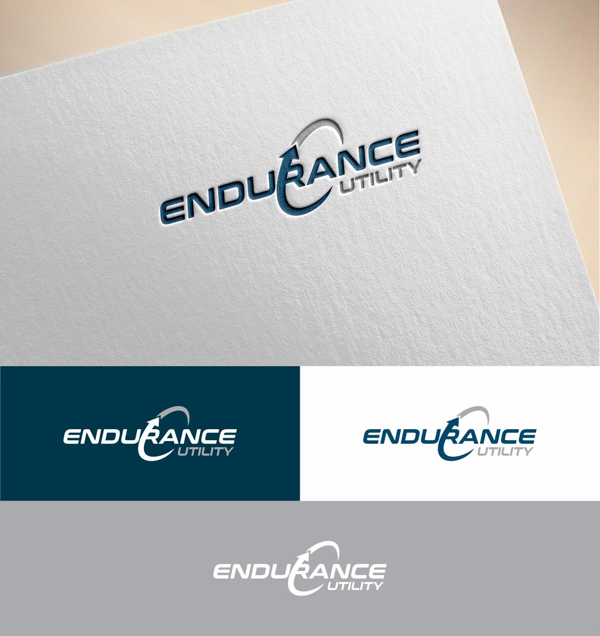 Bold Serious Construction Company Logo Design For Endurance