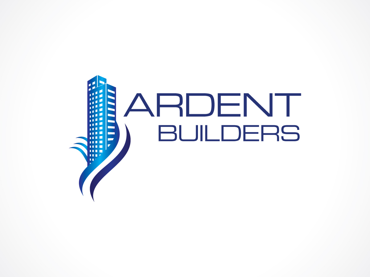 Modern colorful building logo design for ardent builders for Company design