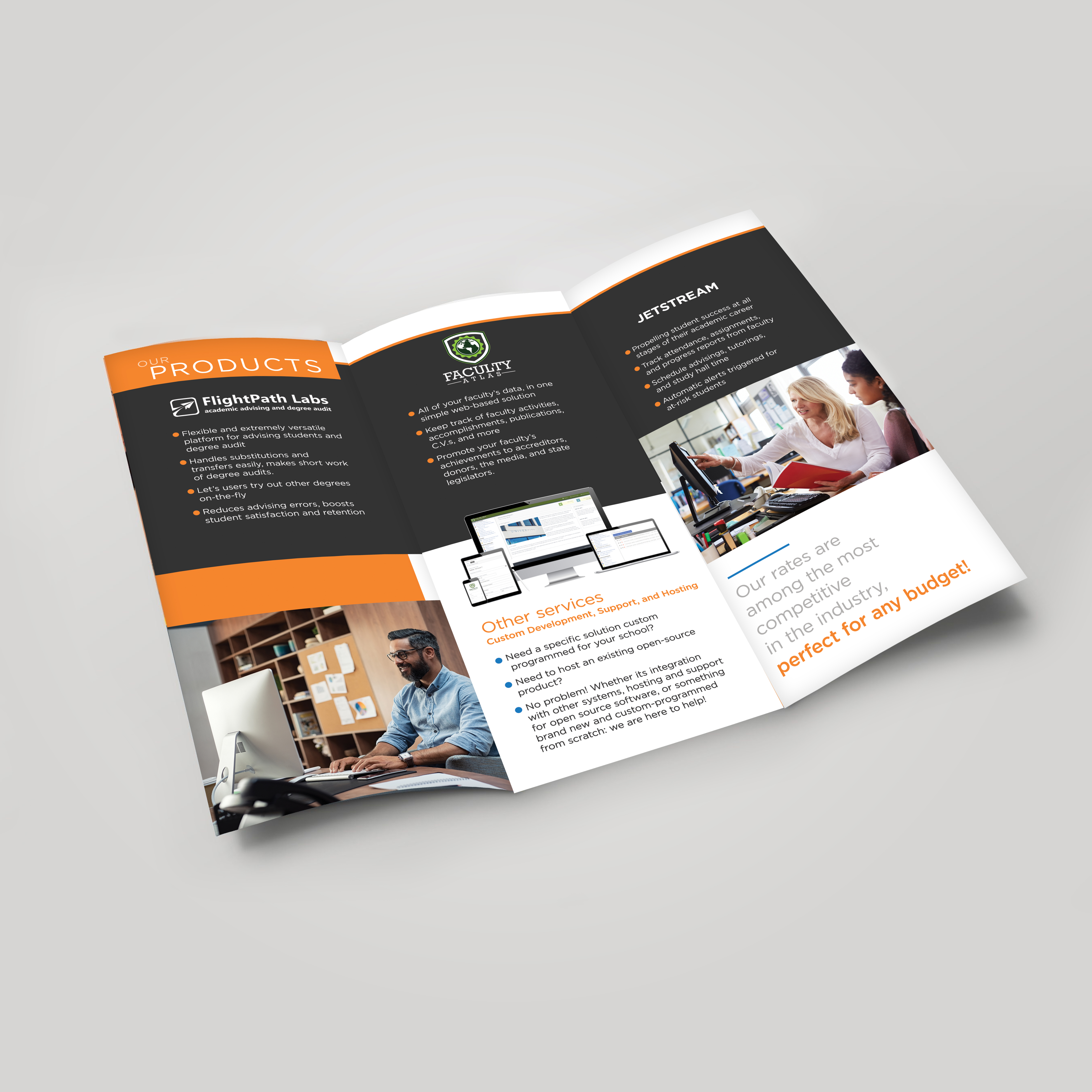Modern Professional Brochure Design For Peacock Software Llc By Andreag Design Design 22321746