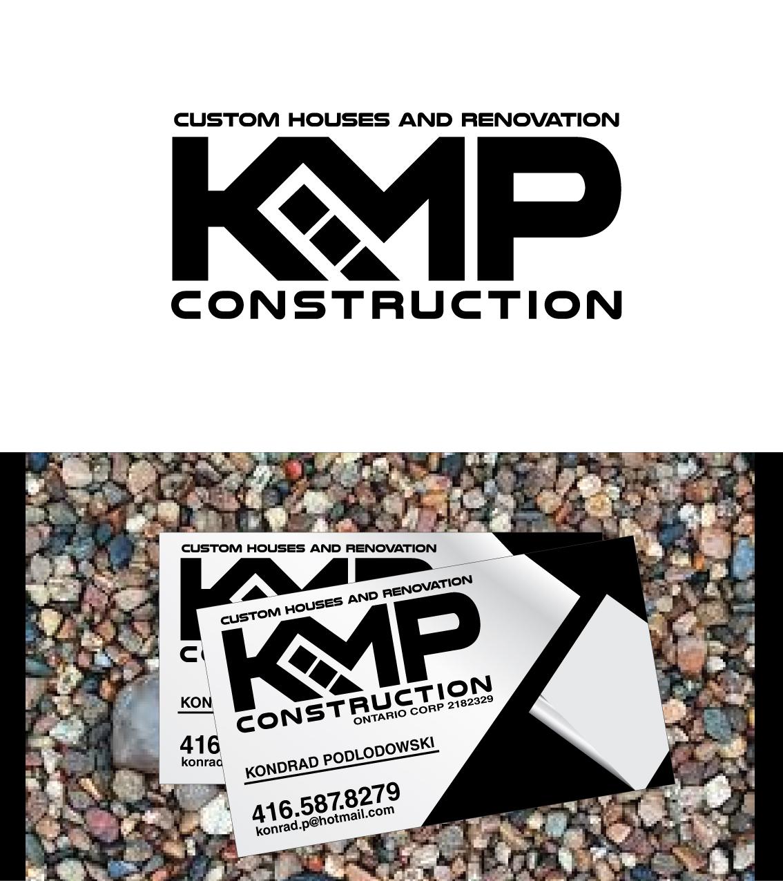 Modern Professional Construction Company Logo Design For Kmp
