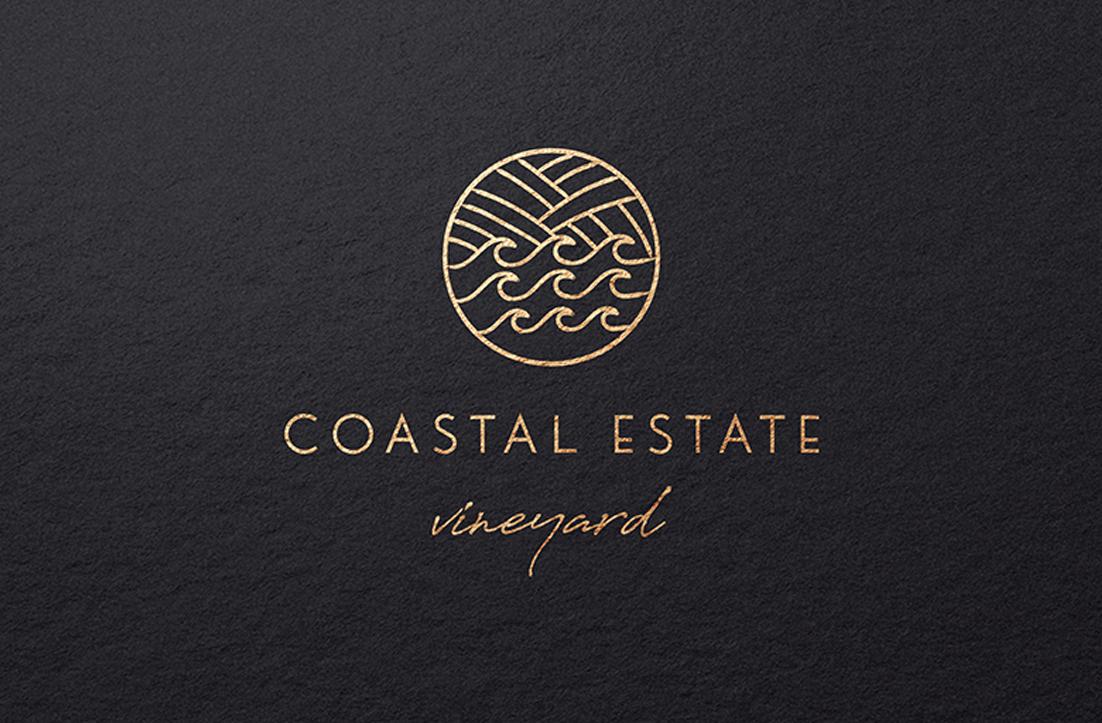 Coastal Estate Vineyard Logo Design by GLDesigns