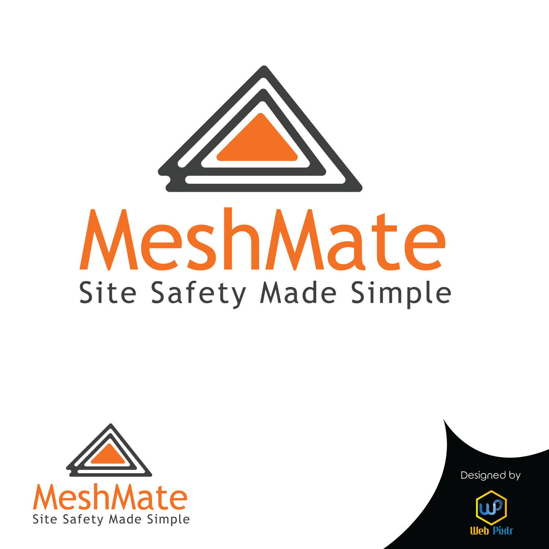 Elegant Playful Construction Logo Design For Meshmate By Web