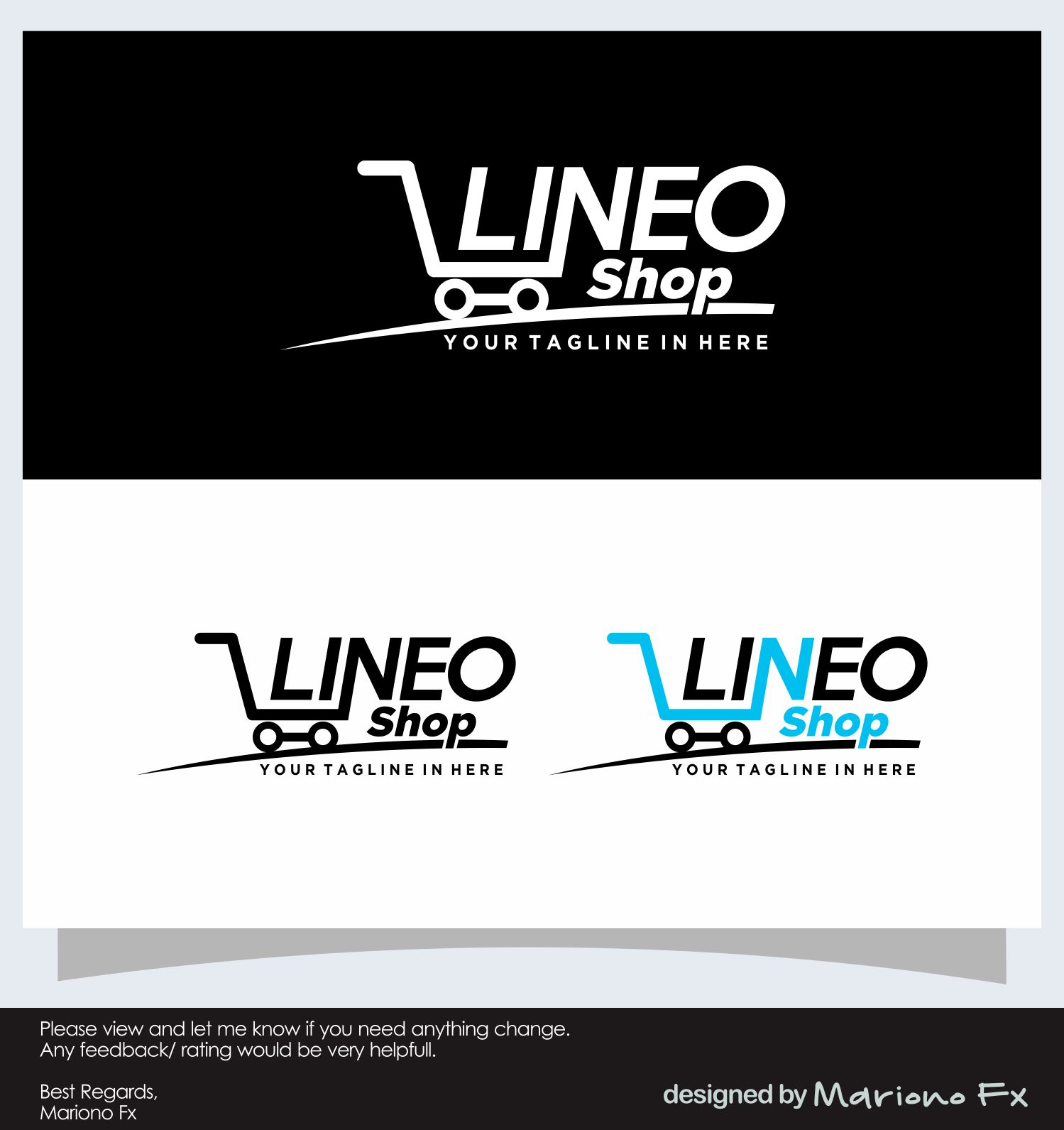 Modern, Professional Logo Design for LineoShop by Mariono Fx ...