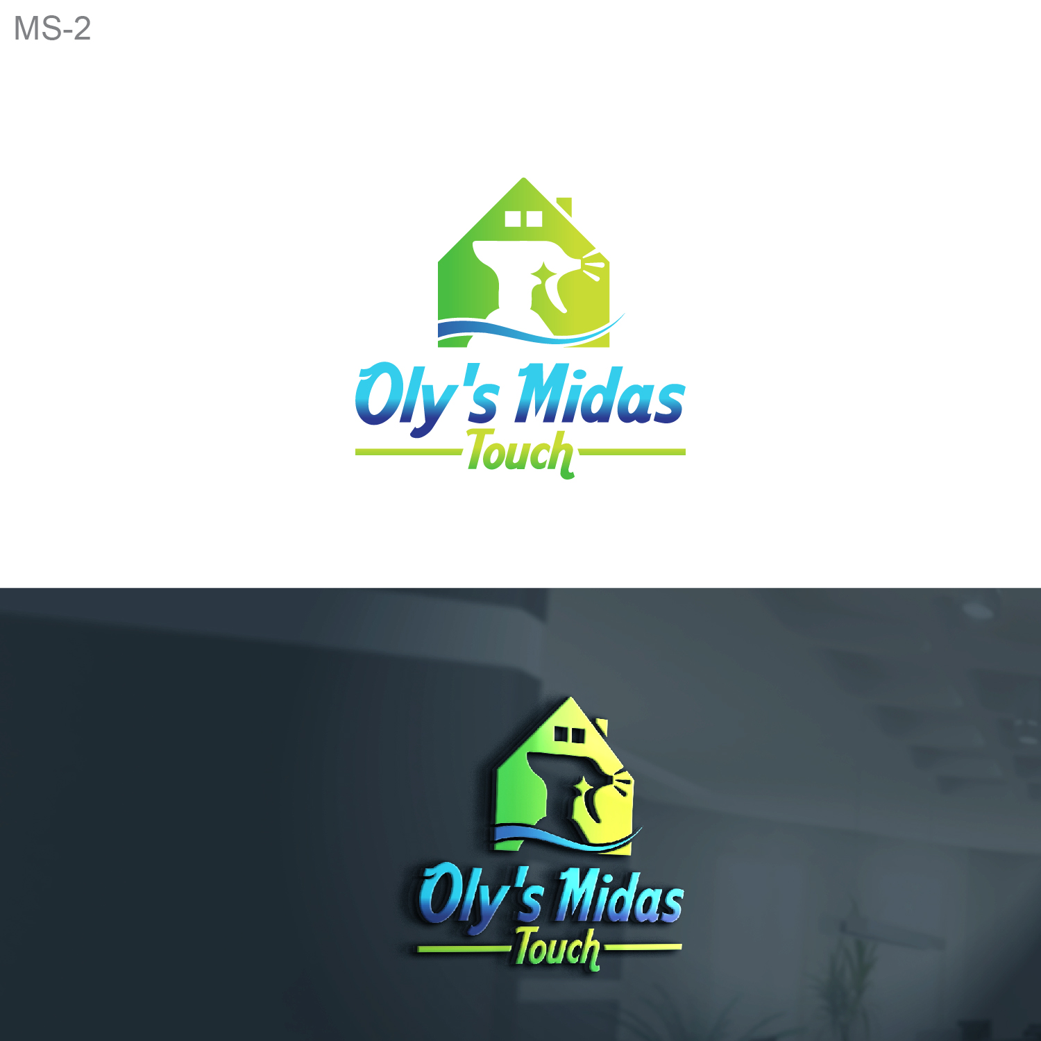 Elegant Playful Cleaning Service Logo Design For Oly S Midas Touch By Esolbiz Design 22423159