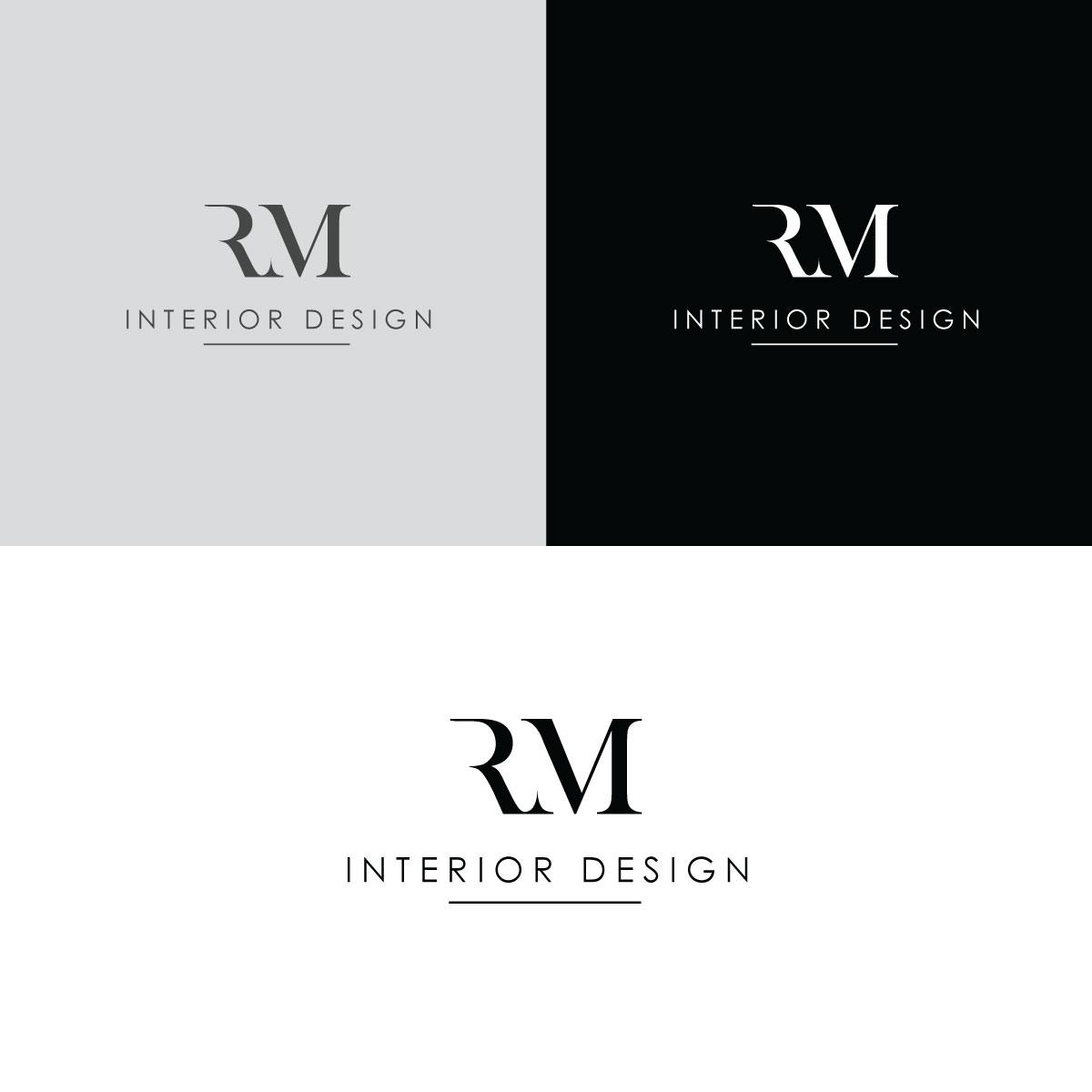 Serious Modern Interior Decoration Logo Design For Rm Interior Design By Rii Design 22439024