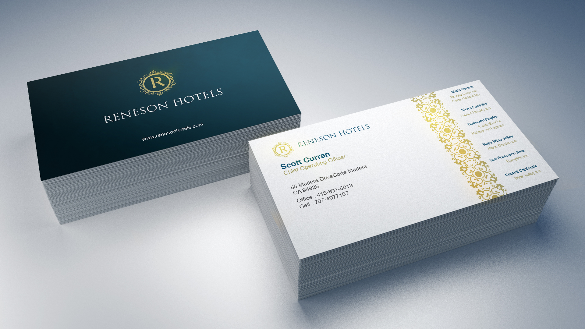 Professional, Elegant, Hotel Business Card Design for a Company by ...