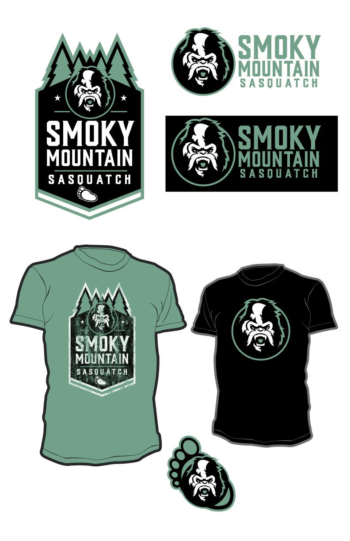 Smoky Mountain Sasquatch (Image of bigfoot in logo form