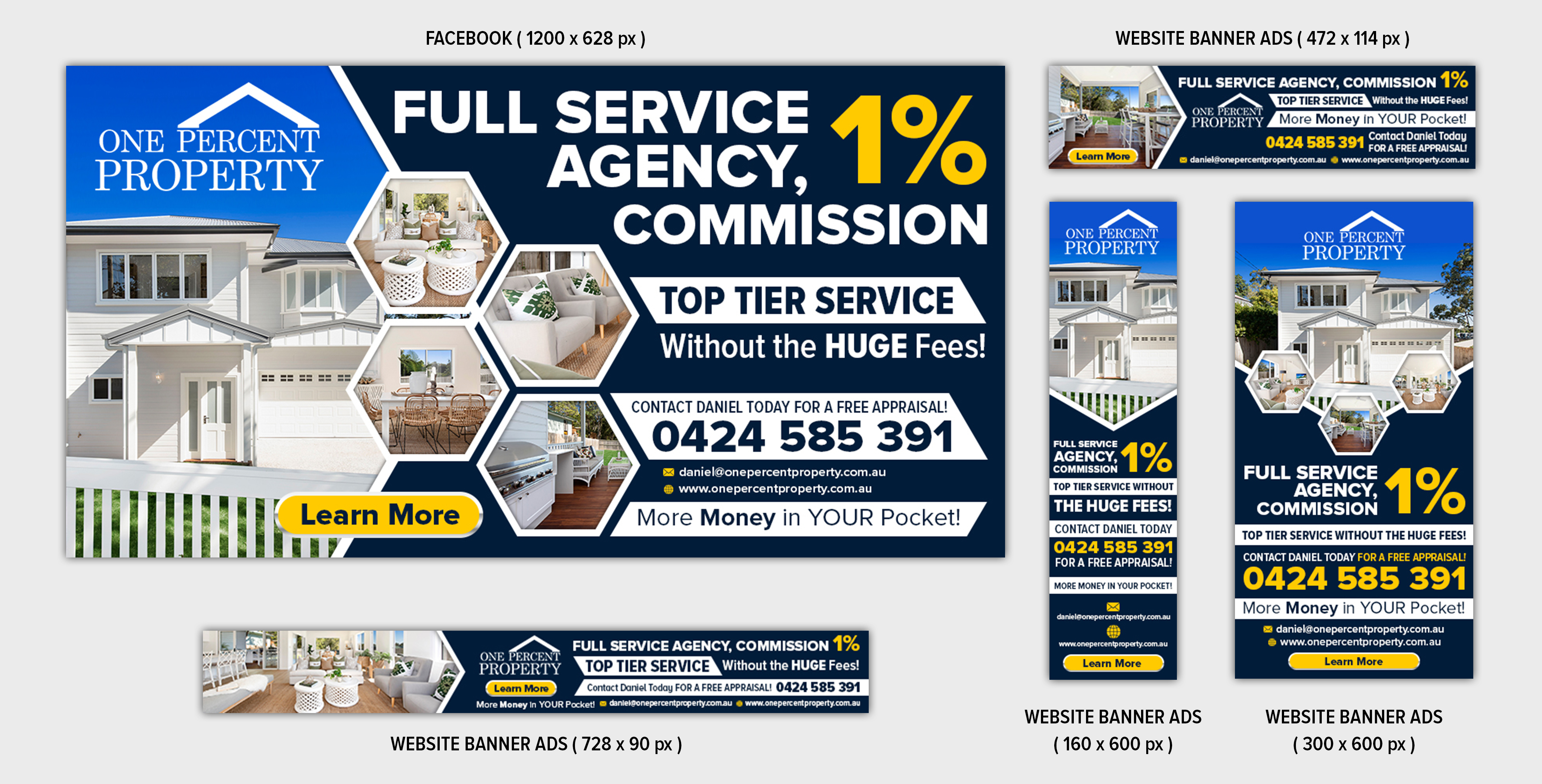 Upmarket Bold Real Estate Agent Banner Ad Design For A Company By Sd Webcreation Design 22516142