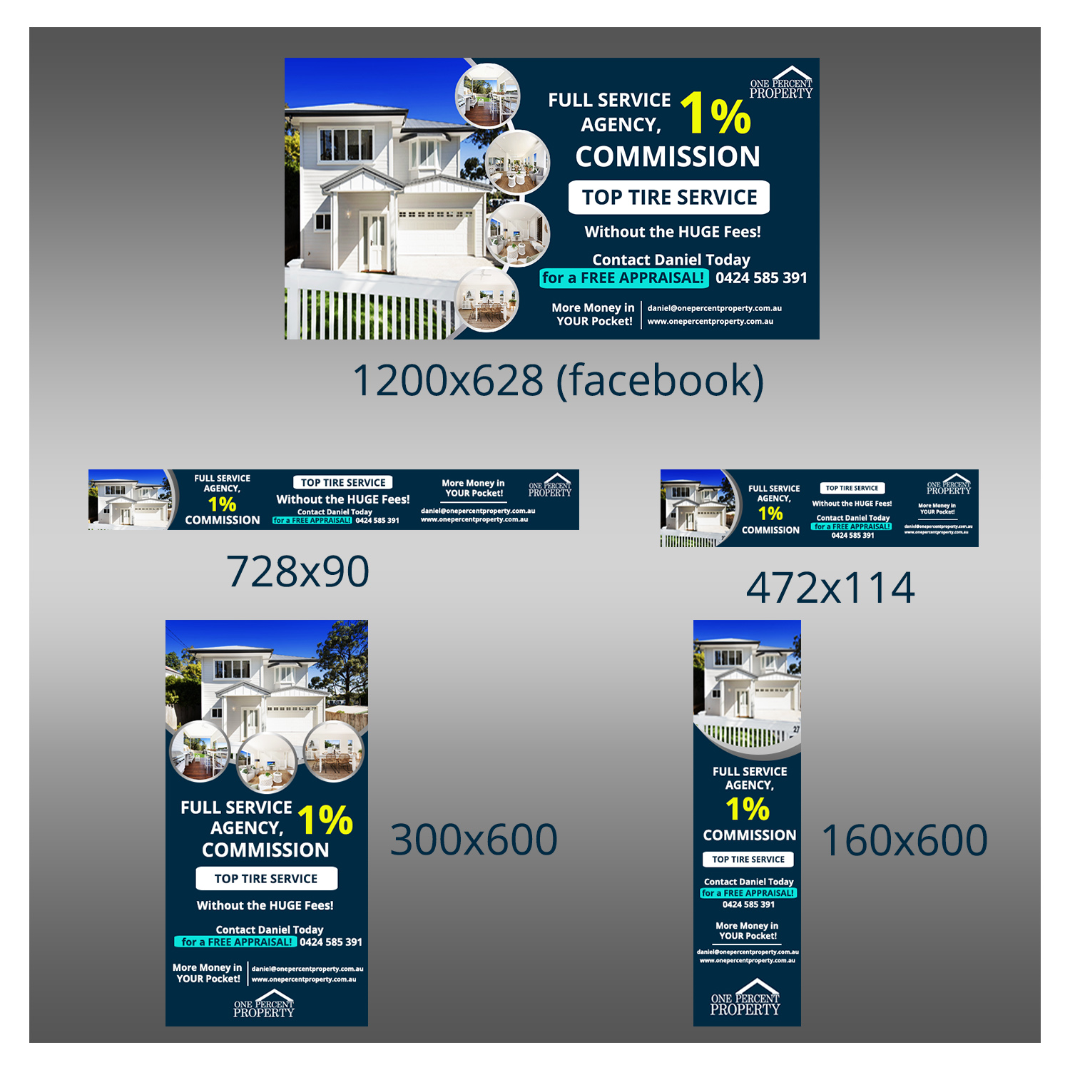 Upmarket Bold Real Estate Agent Banner Ad Design For A Company By Thili Creations Design 22501978