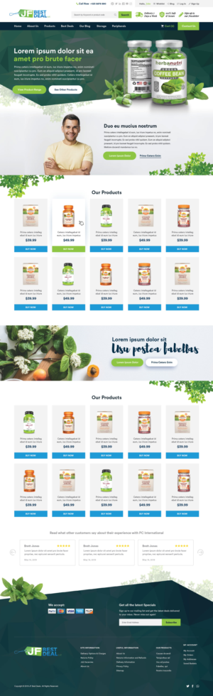 BigCommerce Design by Intricate for JF BestDeal LLC | Design: #22548521