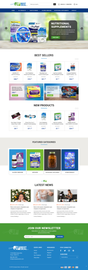 BigCommerce Design by pb for JF BestDeal LLC | Design: #22571580