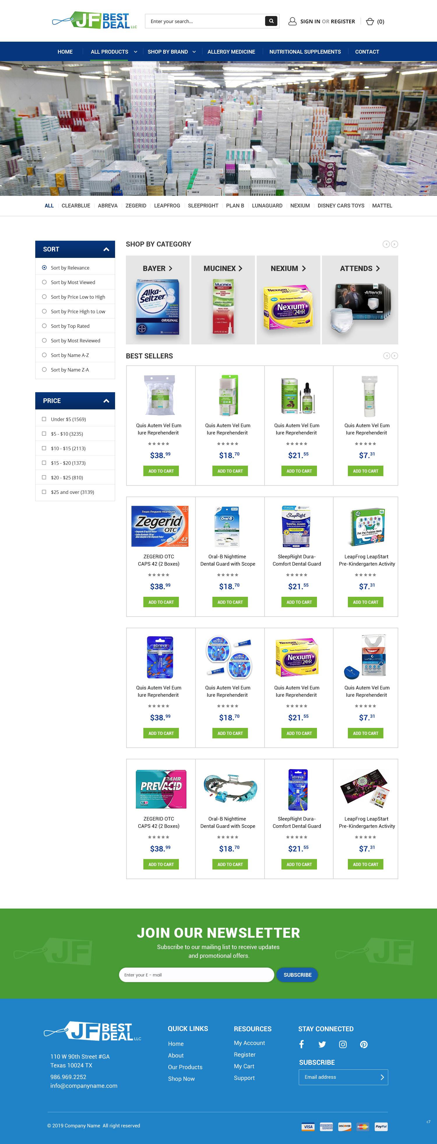 BigCommerce Design by pb for JF BestDeal LLC | Design: #22682412